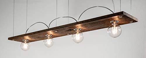 Lumières de juge à LED Bauhaus Pro100 avec chêne brossé huilé et ampoule LED à filament Globe 6 W Transparent non variable