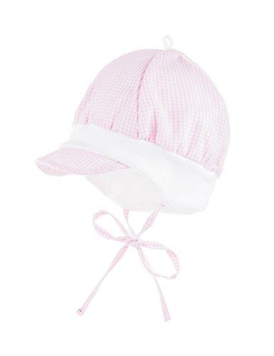 maximo maximo Baby-Mädchen Schildmütze Mütze, Rosa (Mandelblüte-Weiß-Karo Kl. 04), 45