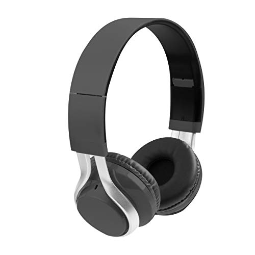 Vivitar Metallic Stereo Headphones with Built-in Microphone 3.5mm Audio Jack, iPhone/Android Compatibility
