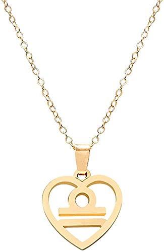 ZPPYMXGZ Co.,ltd Collar de Moda con Collar Colgante de constelación en Forma de corazón con Logo de Shaw Collar de Cadena de clavícula joyería Unisex