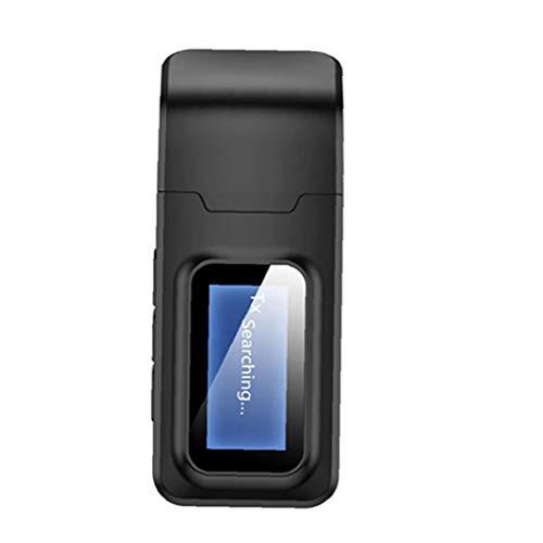 IUwnHceE Adaptador Aux Transmisor Receptor Bluetooth 5.0 4 En 1 Inalámbrico De Audio De 3,5 Mm USB para Tool Kit Duradero Negro Coche del Sistema Estéreo para El Hogar