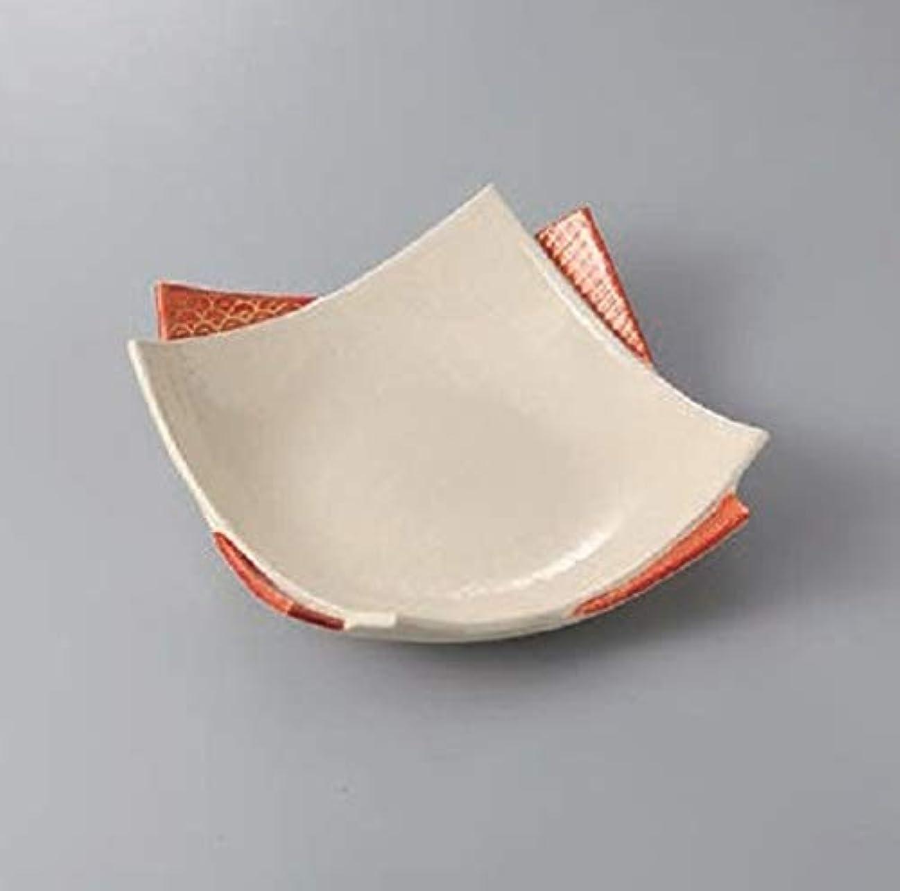 六お手入れアジアエールネット(Ale-net) 大皿 白 20.4cm 赤絵重ね皿(大) 美濃焼