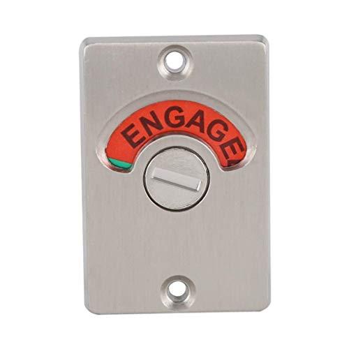 SMEJS Public Restroom Indicator Privacy Door Lock Bathroom Toilet Vacant Engaged Bolt Door Lock Zinc Alloy Indicating Latch Lock