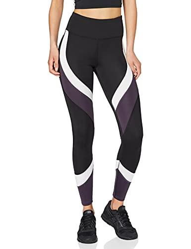 Aurique Leggings deportivos para Mujer, Negro (Black/White/Nightshade), XS