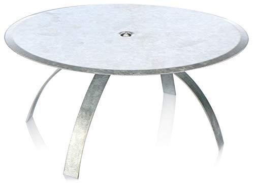 com-four® Kaminlochdeckel Ø 180 mm, Blindkappe als Abdeckung für stillgelegte Kamine, Ofenrohre und Schornsteine, verzinkter Stahl, auch für Mauerlöcher