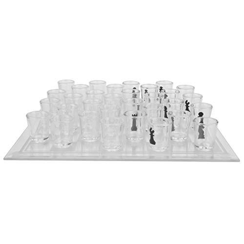 DAUERHAFT Juego de ajedrez de Cristal Durable GlassInternational Ajedrez 35x35cm Ligero, para la Familia, para niños