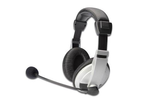 ednet Stereo Multimedia Headset, mit Mikrofon, Kabellänge 1,8 m, mit Lautstärkeregler 2 x 3,5 mm Stereo - Buchsen