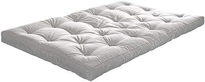 mds Le futon : découvrez la qualité du Sommeil Nordique ! Un Choix Complet (matériaux et Dimensions) - 80 x 200 cm, Gamme Basic - épaisseur Futon 14 - Natural