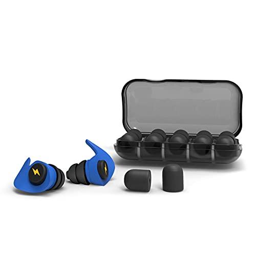Olymajy 12 Pcs tapones para los oídos para dormir, protección auditiva, tapones para los oídos con cancelación de ruido, reutilizables, impermeables, protección contra el ruido para dormir