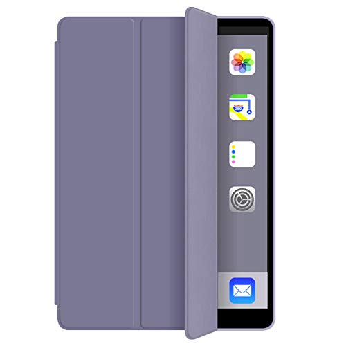 iPad case 9.7 inch 2018/2017 Case with - Lightweight Soft TPU Back Cover with Auto Sleep/Wake, Protective for iPad 5th/6th Generation-Purple