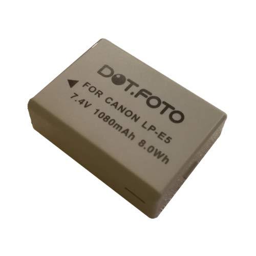 Canon LP-E5 PREMIUM Dot.Foto Batería de Reemplazo - 7.4V/1050mAh - Garantía de 2 años [Vea compatibilidad en la descripción]