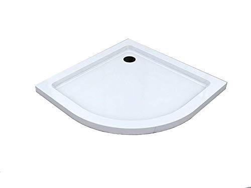 BuyLando - [Typ-DT-V] - 90x90cm - Quadrante - Piatto Doccia Flat - Altezza 5cm - Bianco
