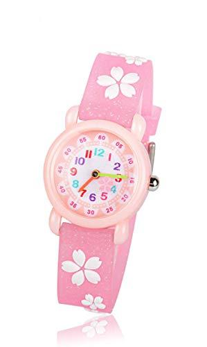 子供用 腕時計 TANOKI 女の子 ウォッチ かわいい アナログ表示 防水 桜 ガールズ 入園 入学 お祝い クリスマス ギフト 誕生日 プレゼント ピンク