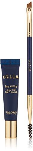 stila Stay All Day Brow Gel and Brush, Dark Brown