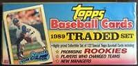 Sealed 1989 Topps Traded & Rookie Set, Flat Photo Box Ken Griffey Jr