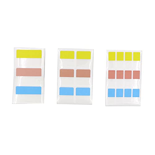 JomMart シンプル インデックスシール 透明 3色 大30枚 中60枚 小120枚 セット 合計210枚 SY0911