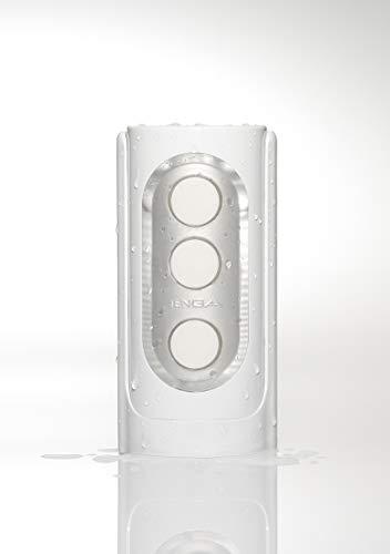 TENGA FLIP HOLE, masturbateur pour homme réutilisable - Blanc, conception flip-open, facile à nettoyer