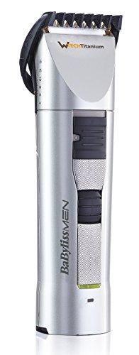 BaByliss Cortapelos E781E - Recortadora para cabello y barba, tecnología W-Tech captura total, precisión 1mm, cuchilla fija de titanio