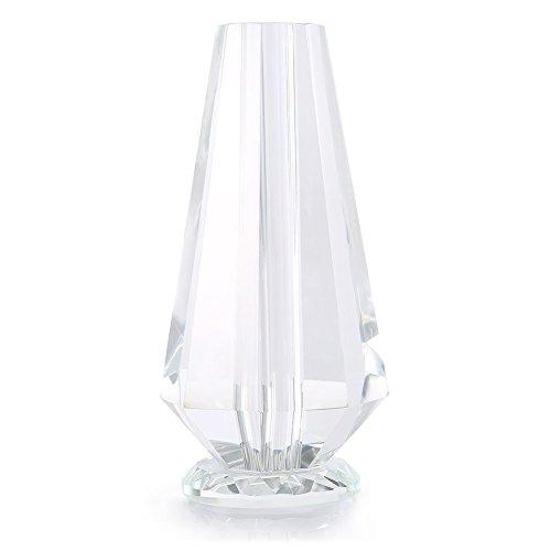 ZJchao Vase de fleurs en cristal étanche rose, unique, haut, en verre transparent pour une seule tige longue, or trempé rose, 10,2 cm