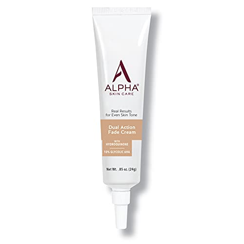 Alpha Skin Care Dual Action Fade Cream   Anti-Aging Formula   With hydroquinone & 10% Gycolic AHA   Diminishes Dark Spots   Reduces the Appearance of Lines & Wrinkles   For All Skin Types   0.85 Oz