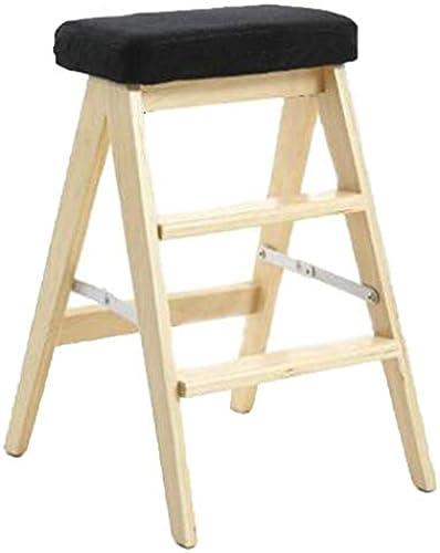 Sarazong Faltende Trittleiter des Haushalts-festen Holzes, Küche einfache 3 Schritte Multifunktionsleiter-Schemel-Stühle moderner Haushalt sparen Raum-Schritt-Hocker-Leiter,G