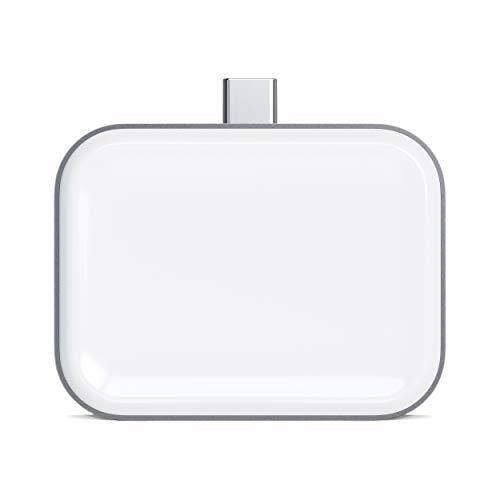 Satechi USB-C AirPods用 ワイヤレス充電ドック (ワイヤレス充電ケース付きのAirPods Pro, AirPods 2/1対応)