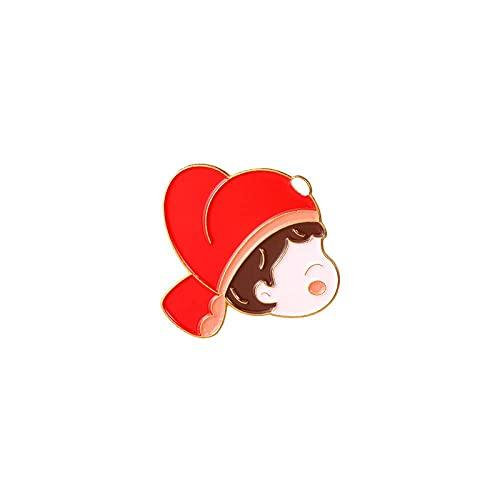 MISS KANG Broches de Mujer Pines Pareja Brooch Groom Novio Camisa Pin Button Colllar Tarjeta Ropa Accesorios Boda Día de San Valentín Regalo Qingchunw (Color : Xz4974)
