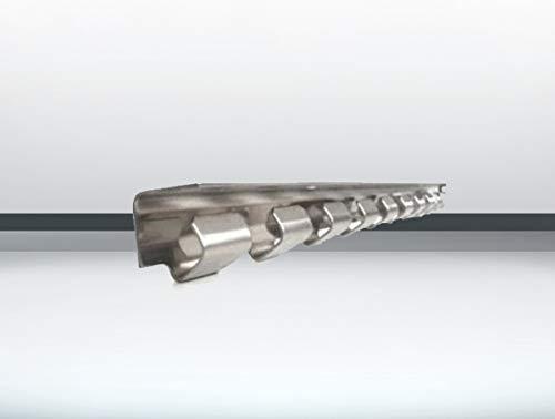 Hakenleiste/Aufhängeschiene 1230mm lang aus Edelstahl für einen PVC Streifenvorhang Lamellenvorhang