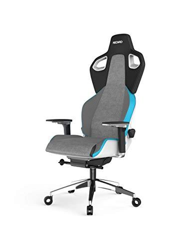 RECARO Exo Platinum Gaming Chair - ergonomischer, höhenverstellbarer Gaming Seat der Extraklasse- Sky