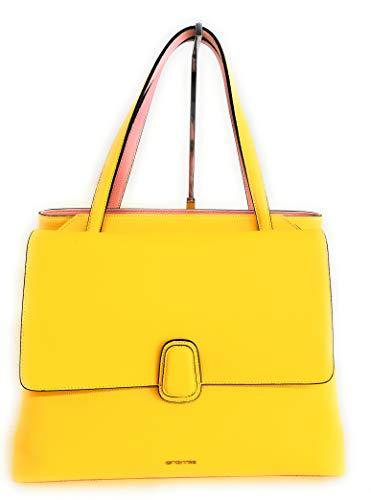 Cromia Damen Handtasche Shopping aus Leder 1404216 Farbe Bernstein, Maße: 38 x 28 cm.