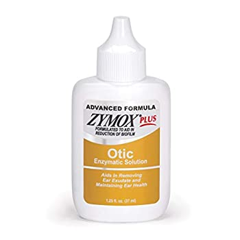Zymox Advanced Formula Otic Plus Enzymatic Ear Solution for Dogs and Cats Without Hydrocortisone 1.25oz
