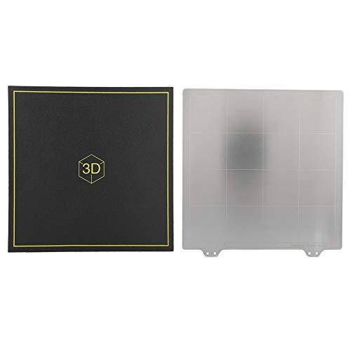CHICIRIS Heißes Bett mit magnetischer schwarzer Aufkleber 3D-Druckerplatte, Druckerzubehör 3 mm Stahlplatte 3D-Drucker für einfacheres Drucken