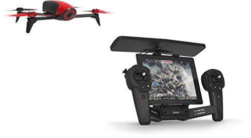 Parrot Bebop 2 und Skycontroller Drone schwarz/rot
