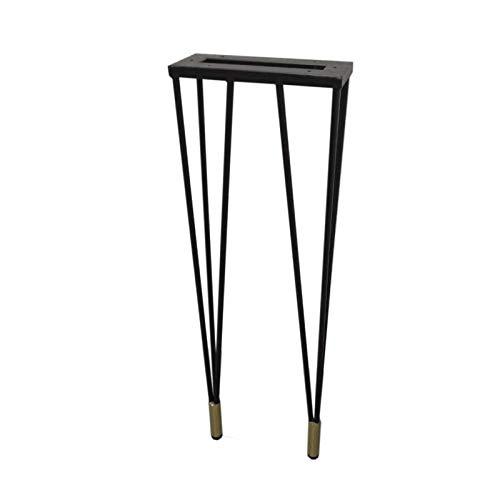 KISNAD Patas de gabinete Muebles de pies Piernas de Mesa de Metal Barra de casa DIY Steel Table Tabla Legal Estilo Industrial Muebles Piernas DIY Muebles con Pies Protector