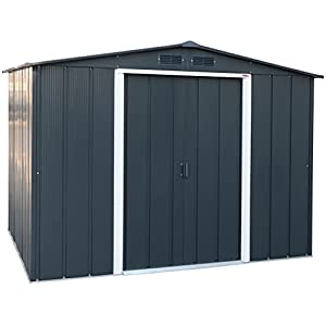 Duramax ECO 8 x 6 Metal Shed with Sliding Doors
