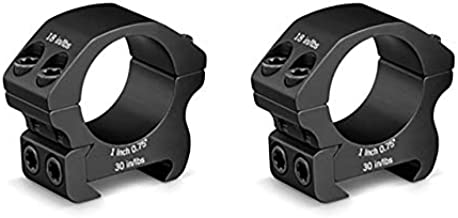 Vortex Optics Pro Series Riflescope Rings - 1 inch - Low Height [0.75 Inches | 19.05 mm], Black