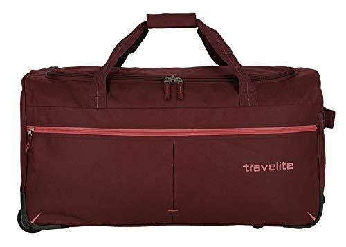 Travelite Basics Fast - Bolsa de viaje (2 ruedas, 65 cm) Burdeos Rosado Talla única