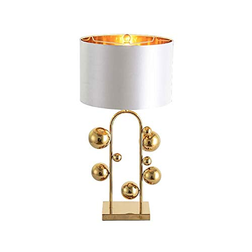 SPNEC Simple Warm Golden Table Lamps Retro Creative American Style Lighting For Bedroom Foyer Hotel Decorative Lights (Color : B)