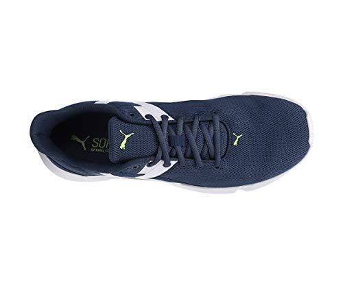 PUMA Men's Momentum XT Dark Denim-Yellow Alert White Running Shoe-9 Kids UK (19354102)