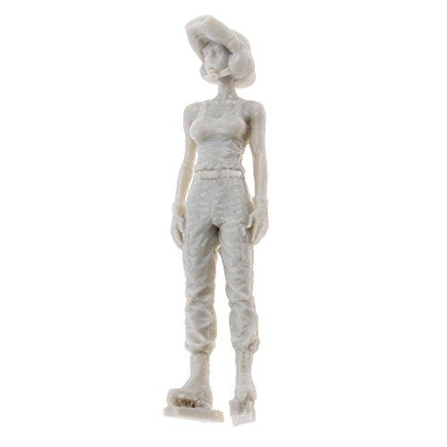 1/35 Unbemalt Soldaten Spielzeug Kit , Armee Mädchen Figuren Zubehör Modell