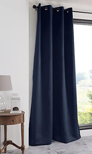 Lovely Casa – Cortina – Modelo Notte – Azul – 140 x 280 cm – 100% poliéster