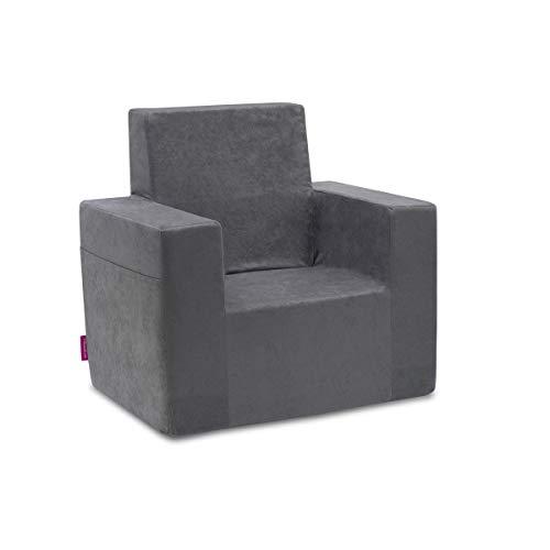 Classic Kindersessel Kinder Babysessel Baby Sessel Sofa Kinderstuhl Stuhl Schaumstoff Umweltfreundlich (Grau)