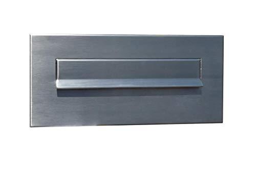 Letterbox24.de CD-4 - Buzón de acero inoxidable (sin placa para nombre (160 x 350 mm)