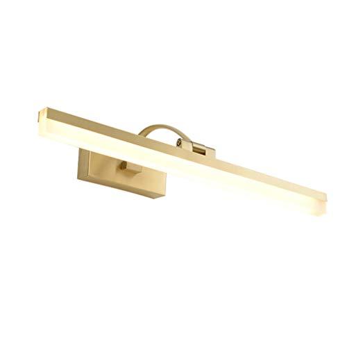 ZQH LED spiegel voorlicht, moderne koperen badkamer wandlamp Europees acryl make-up licht vanity-licht spiegel licht badkamer spiegelkast lamp