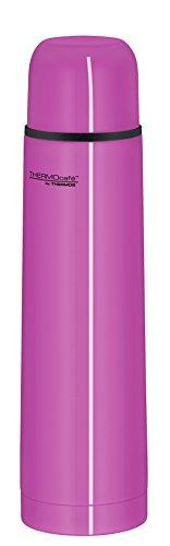 ThermoCafé by THERMOS 4058.244.070 Thermosflasche Everyday, Edelstahl Pink 0,7 l, Drehverschluss mit Trinkbecher, BPA-Free