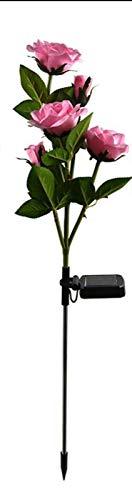Solar Flower Outdoor Gartenleuchten,1 Packungen Solar Garden Stake Lampen mit 5 Rose Flower wasserdichte dekorative Lichter für Lawm Garden Patio Yard Pathway Party Weihnachtsdekoration (pink)