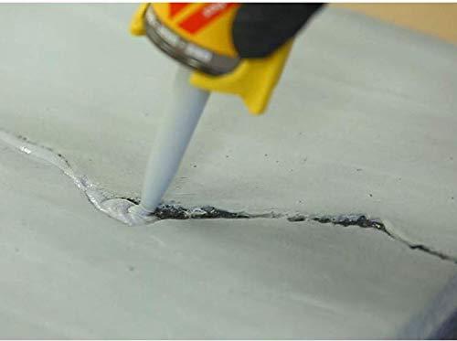 Sikaflex Crack Flex Sealant, Gray, High performance, textured polyurethane sealant, self-leveling, sealant for sealing horizontal cracks, 10,1 fl. Oz