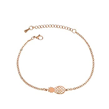 Goddesslili Fruit Pineapple Bracelet for Women Teen Girls Mom Elegant Vintage Retro Wedding Engagement Anniversary Jewelry Gift Under 5 Dollars