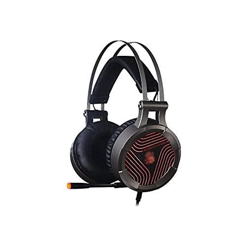 ELXSZJ XTZJ Auriculares sobre oído con micrófono, Auriculares de lubina estéreo Ligeros y portátiles con 1,8 m, Auriculares con Cable for teléfonos Inteligentes MP3 / 4