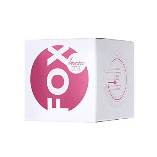 Loovara 12 Kondome in individuellen Größen - Kondomgröße 53 - Size Fox - Kondome dünn aus Fair Rubber - Für mehr Fun & Feeling beim Sex - Vegane Präservative im 12er Pack